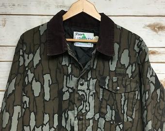 Vintage Trebark Camo Shirt Treebark Camo Shirt Mens Small Camo Hunting Shirt
