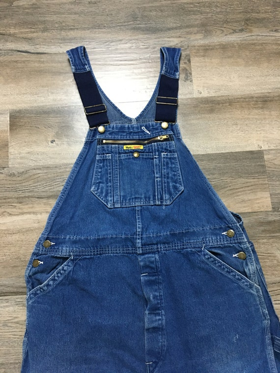 Vintage 80's Work N Sport Denim overalls Made in U