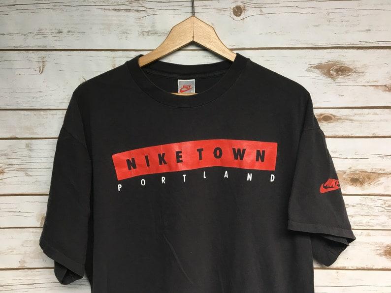 7f9972833c03 Vintage Nike Town Portland tshirt Portland Oregon Nike Gray