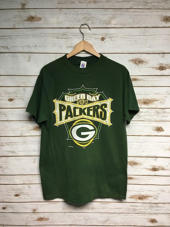 Vintage 90 s Logo 7 Green Bay Packers tshirt Packers  d1bdc0c6b