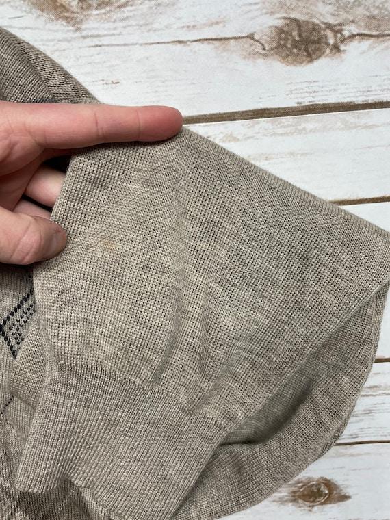 90s Cream Merino Wool Boyfriend Polo Sweater