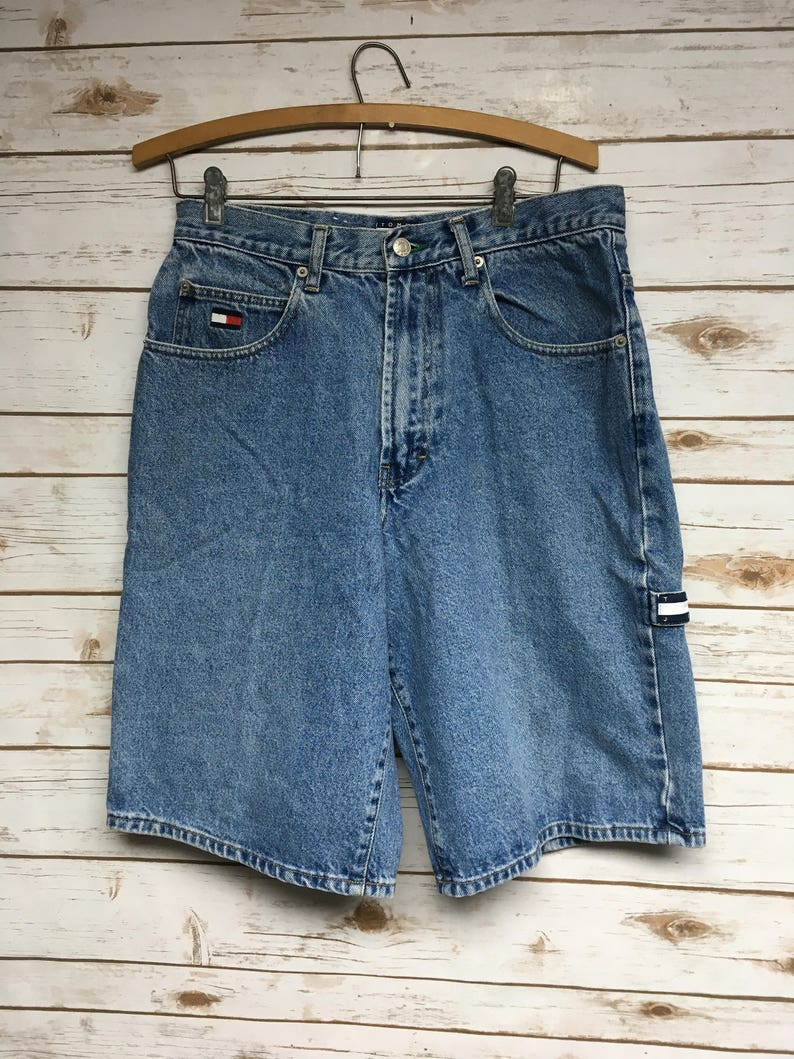 efbbc96a 90's Tommy Hilfiger Carpenter Jean shorts Hammer loop | Etsy