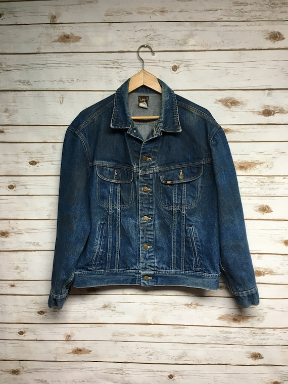 Vintage 70's 80's Lee denim jacket distressed deni