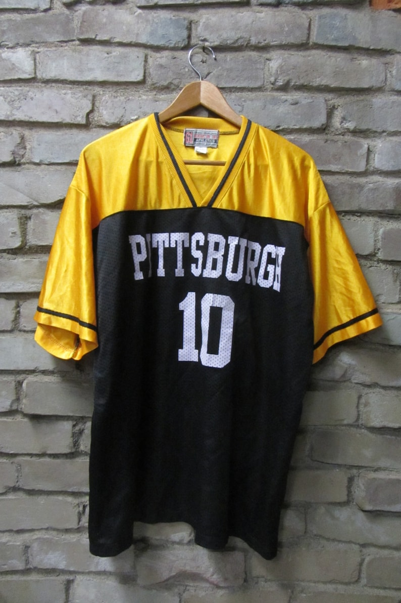 low priced 5c2fa 83da1 Vintage Pittsburgh Steelers Football jersey Number 10 Kordell Stewart mesh  NFL jersey NFL hipster jersey - Large