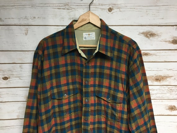 Vintage 50's Wool flannel Jcpenney Towncraft wool