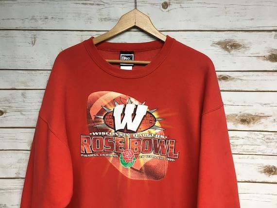 Vintage 90's Wisconsin Badgers Rose Bowl crew neck