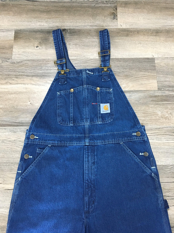 Vintage Overalls & Jumpsuits Vintage Carhartt Denim Overalls Jeans Coveralls Indigo Wash Vintage Workwear Blue Chore - 37 X 29.5 $0.00 AT vintagedancer.com