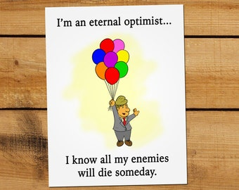 "Trump ""Motivational"" Mini-Poster - Optimist Trump"