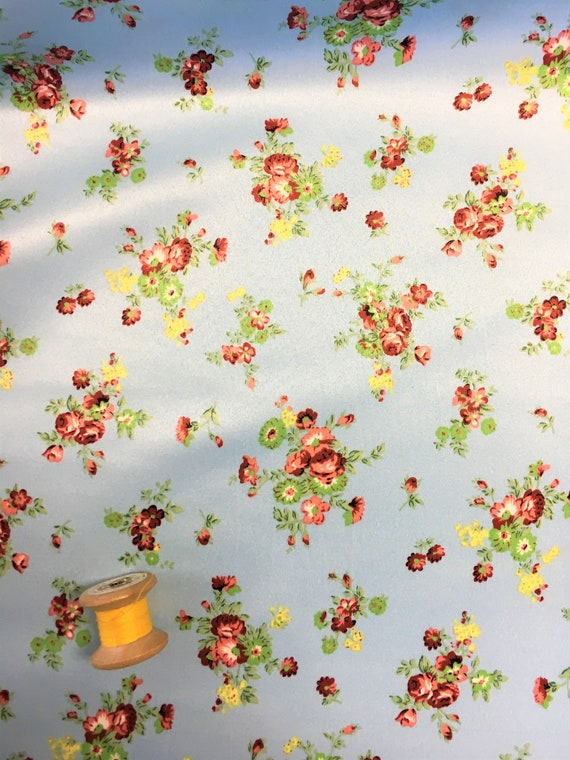 Floral Printed Jersey Dress Fabric 150cm Wide