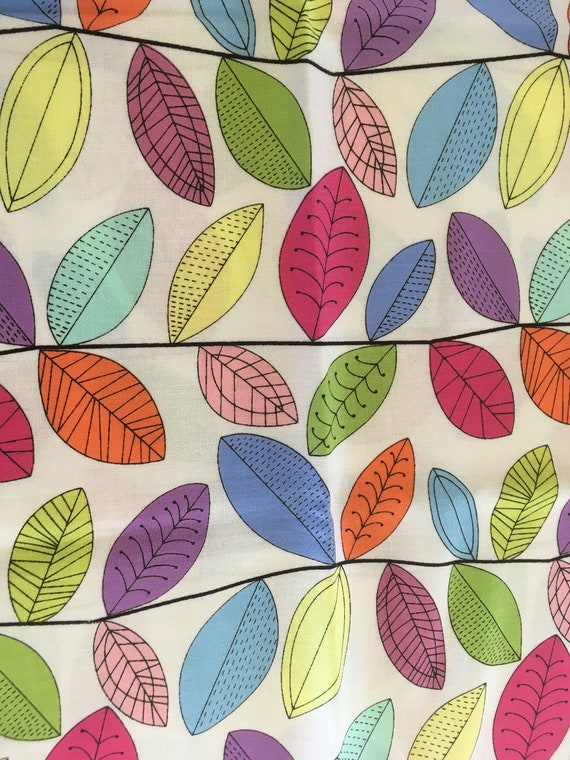 Quilting Fabric Lime Green White Squares /& Leaves Fat Quarters 100/% Cotton