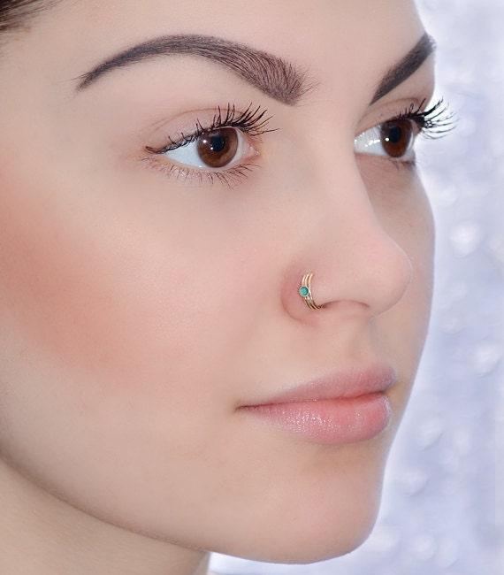 Tragus Stud Helix Stud Nose Screw 18g Gold Nose Ring Cartilage Stud Tragus Earring Stud 2mm Onyx Nose Stud 18g