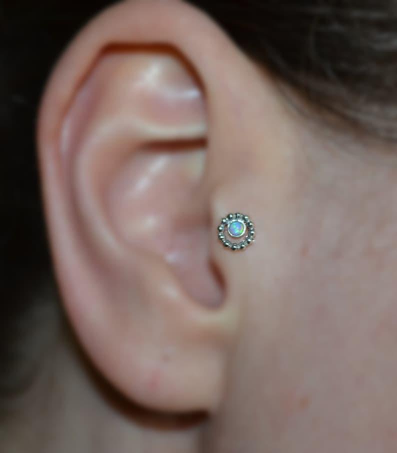 Forward Helix Earring Tragus Earring Stud Nose Screw 18 Gauge