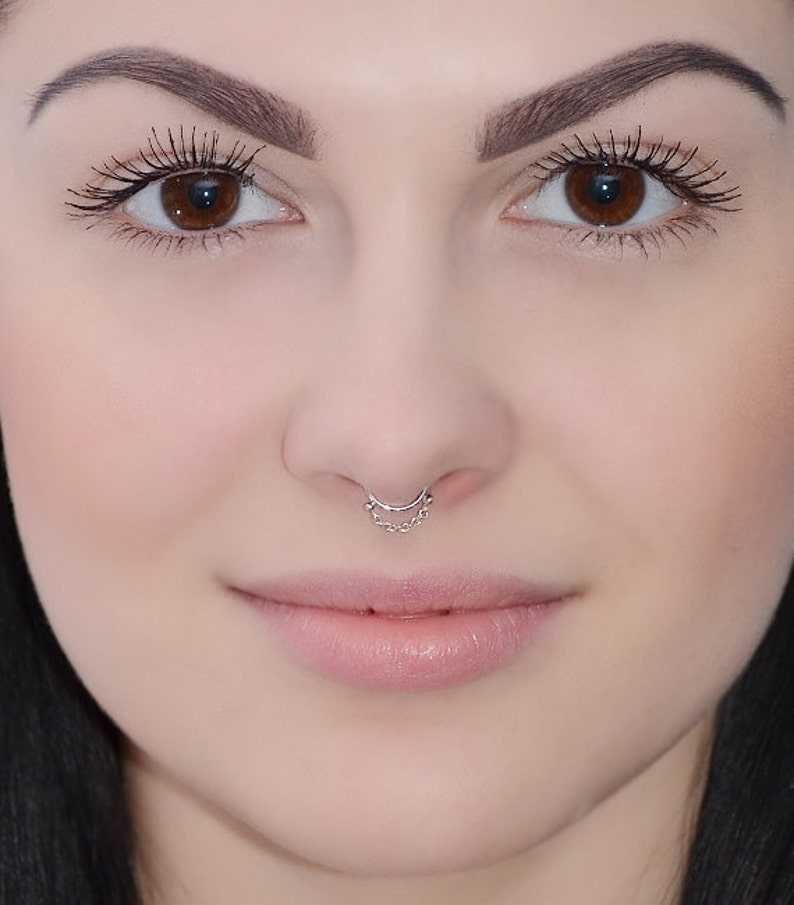 Septum Ring Silver Septum Piercing Small Nose Ring Cartilage Ring Tragus Hoop Daith Earring Septum Jewelry 18g Nose Hoop