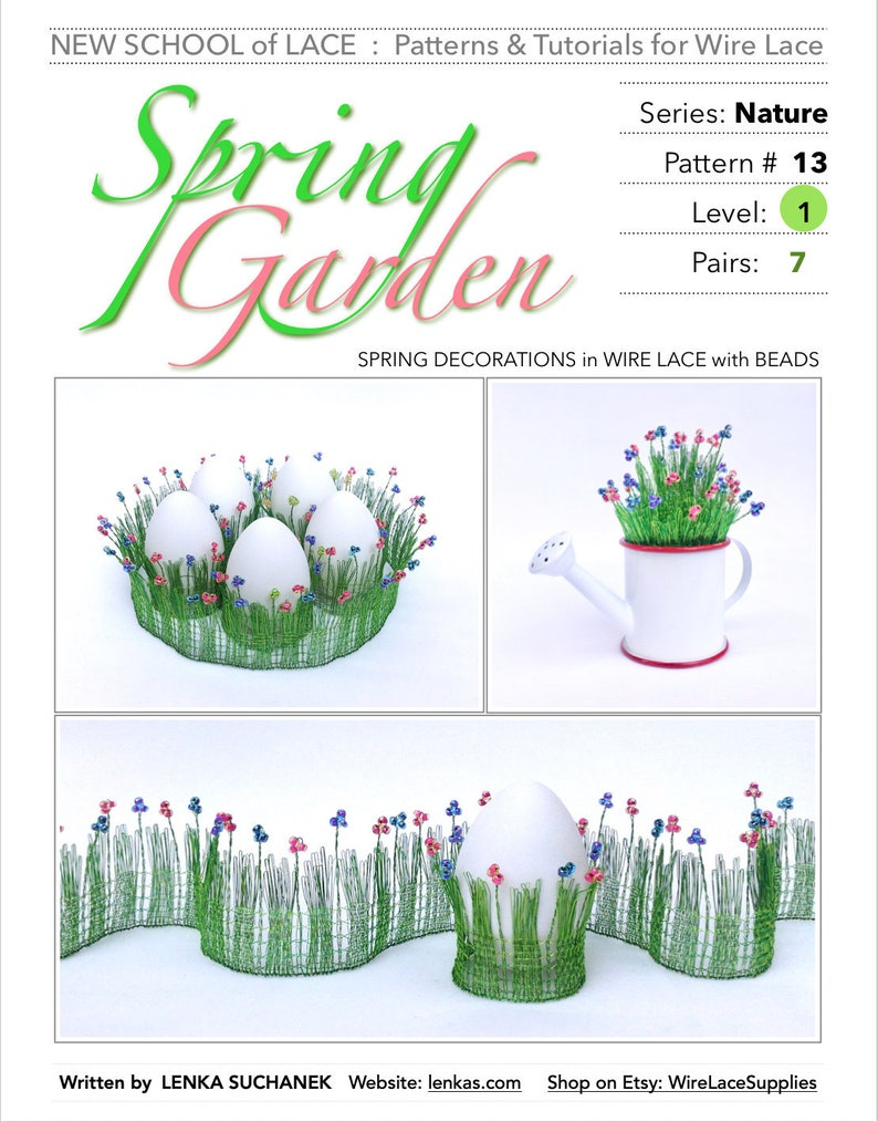 Spring Garden  Pattern & Tutorial for Wire Lace : image 0