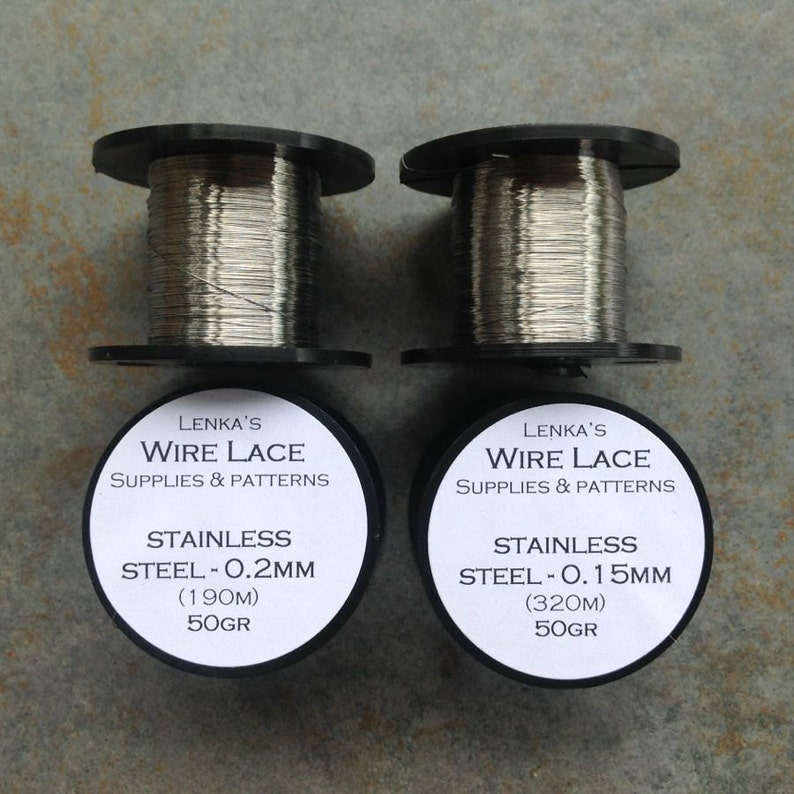 Stainless Steel Wire  1 SPOOL  choose wire size 0.2mm gauge image 0