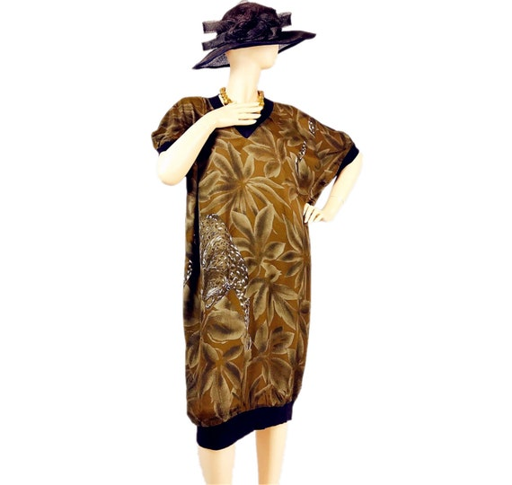 Vintage Leopard Print Jungle T-shirt Dress