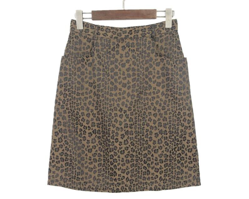 1ada72dd1b Amazing/Fendi/ 90s Vintage Leopard skirt/Made in Italy | Etsy