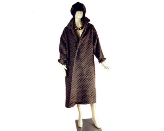 Beautiful  80'S Vintage long wool  coat