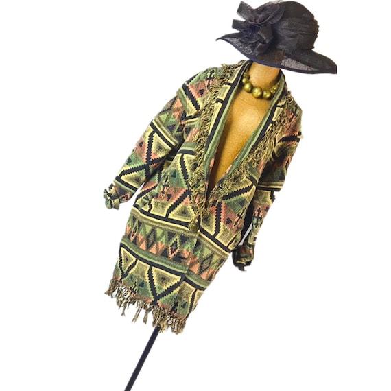 Vintage brocade blanket  coat