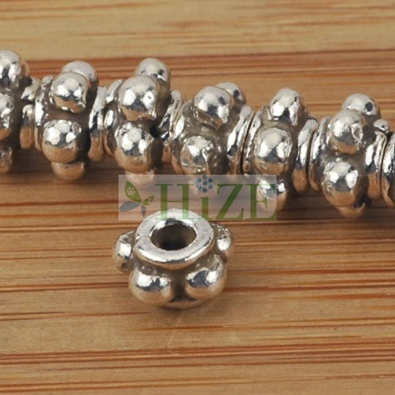 5 brillant poli argent sterling daisy spacer beads entretoises 5 mm