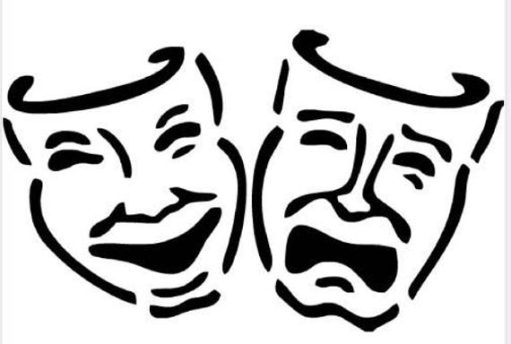Drama Theater Masks Vinyl Decal Acting Stickers Personalized Etsy