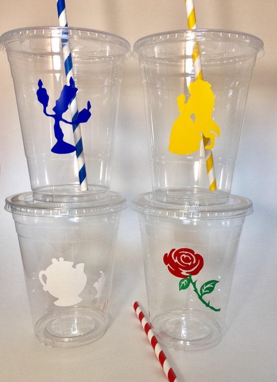 Llama Party Cups Set 12 Disposable Lids Straws Llamas