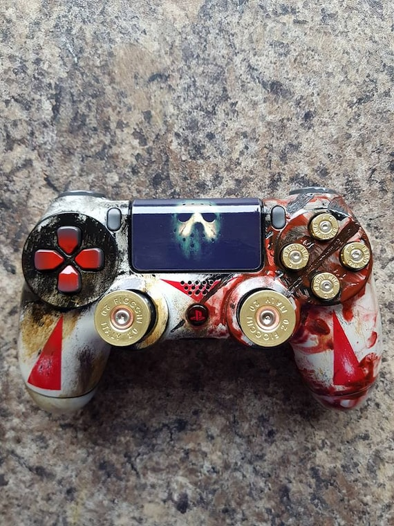 custom jason voorhees friday the 13th ps4 controller etsy