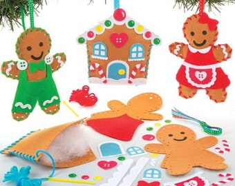 christmas craft kit gingerbread man gingerbread house