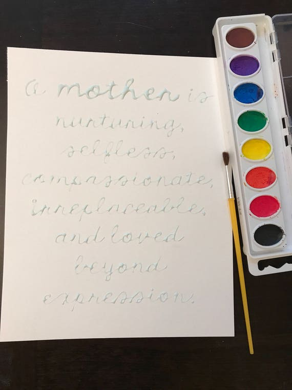 DIY Watercolor Mothers Day Activity Gift