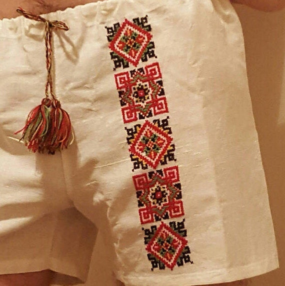 Boxer shorts with Ukrainian embroidery / Men's underwear for gift / Hand embroidery for man / Ukrainian souvenir H5f0dPW