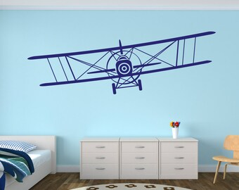Perfect Airplane Wall Decal   Biplane Decal   Baby Room Plane Decor   Nursery Wall  Decals Vinyl