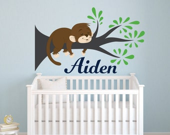 Elegant Monkey Wall Decal | Etsy