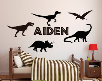 Dinosaur Wall Decal Etsy