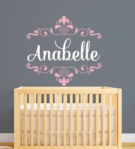 Wandtattoo Name Monogramm Decal Kindergarten Baby Girl | Etsy