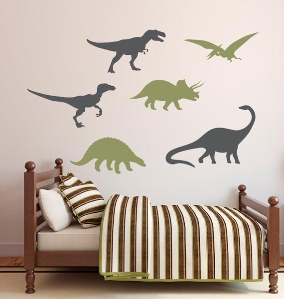 Dinosaurier Wandtattoo Jungen Wand Aufkleber Kinder Dekor Etsy