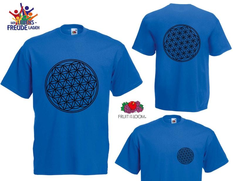 d58940b865237 Fleur de vie Fruit de la Loom® T-Shirt Hommes Valueweight T