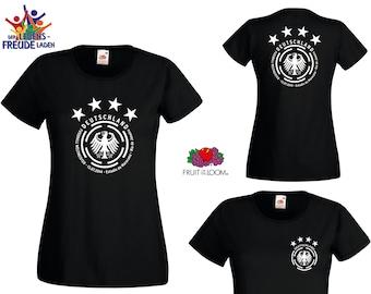 EM 2020/2021 Germany Soccer World Champion 2014 -  T-Shirt Lady Fit