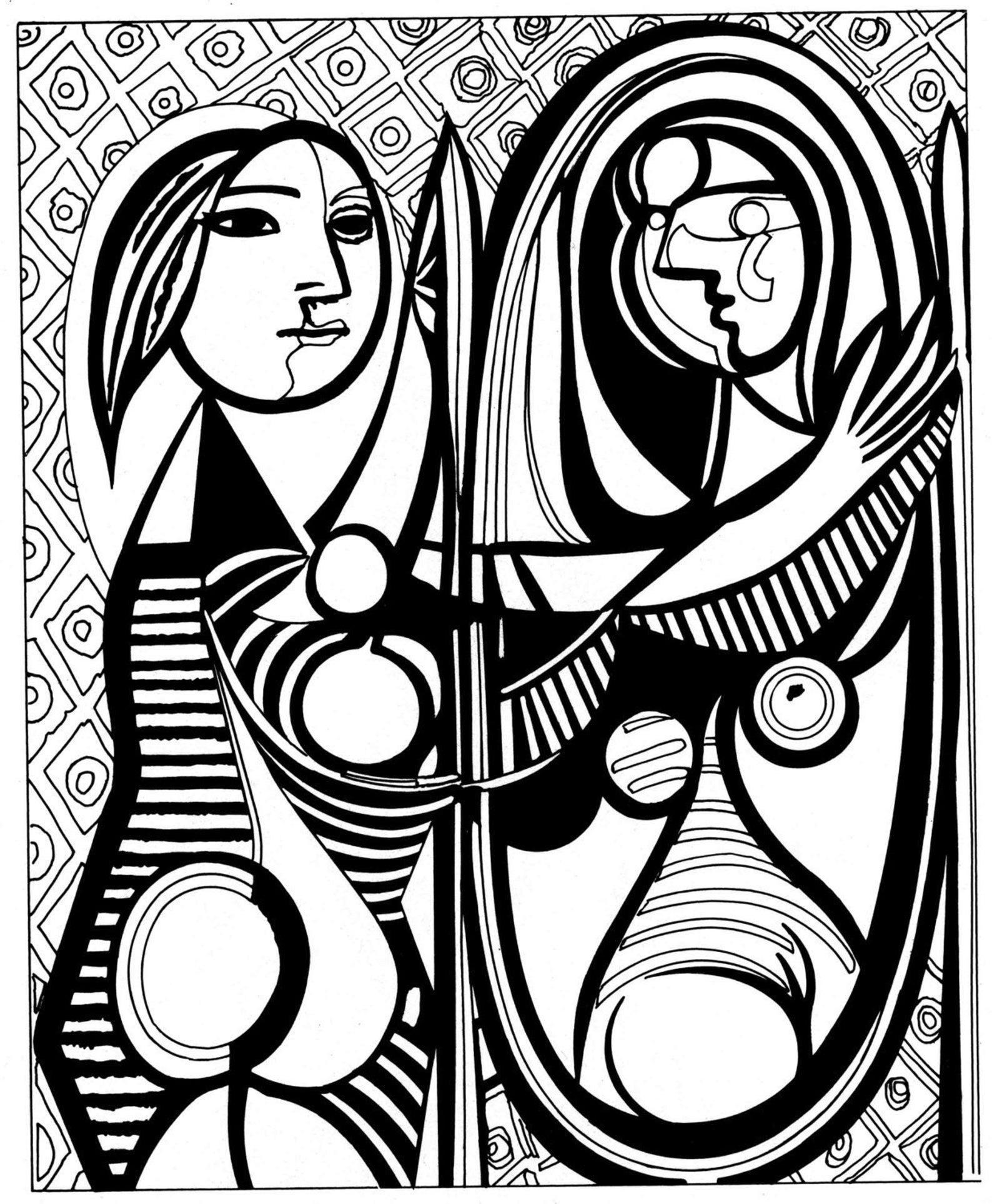 pablo picasso gemälde mädchen vor dem spiegel  etsy