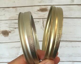 Silver Or Gold Wide Mouth Mason Jar Ring //Mason Jar Gold Ring // Ring for DIY Tumblers