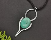 Brazilian nephrite jade necklace, green jewelry, nephrite jade pendant, unique statement necklaces for women, sister birthday gift