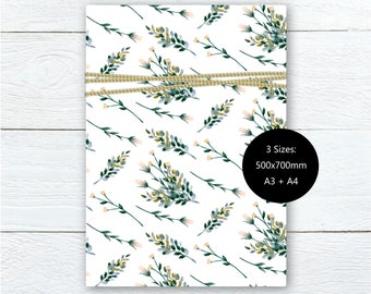 Floral gift wrap etsy wild botanical gift wrap printable wrapping paper floral gift wrap watercolour wrapping paperdiy printable gift wrap set of 3 mightylinksfo