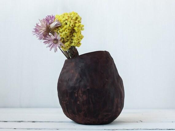 Rustic Vase Autumn Decor Japanese Wabi Sabi Pottery Hygge Etsy