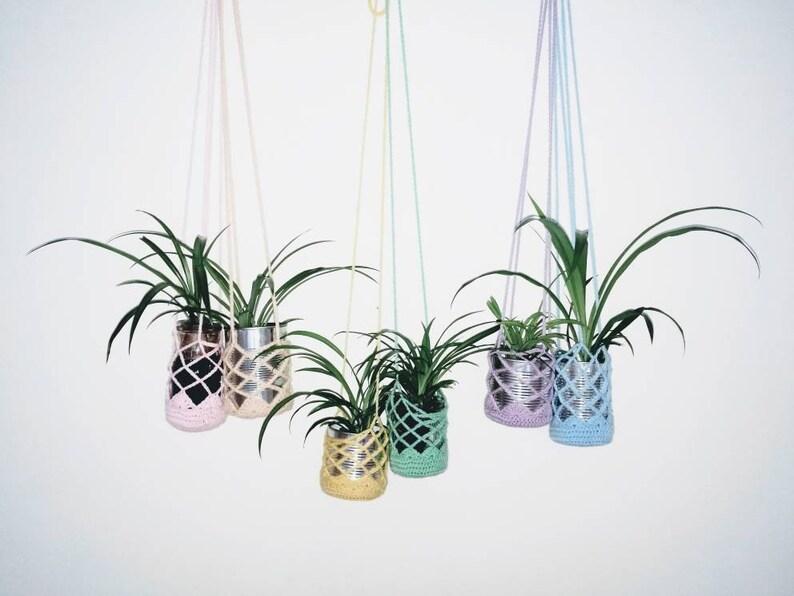 Crocheted plant holder