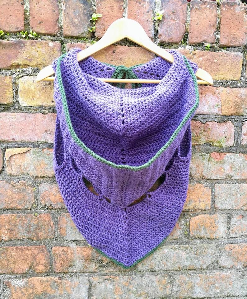 Crocheted hooded cropped festival bolero jacket