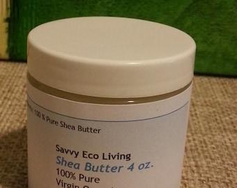 Shea Butter 100 % Pure Virgin Organic Unrefined 4 oz