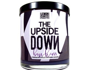 The Upside Down - TV Inspired Candle - 10oz Soy Candle - LemonCakes Candle Co - Precious Cinnamon Rolls & Autumn Nights