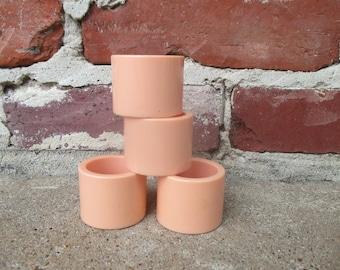 Vintage Vera Neumann Pastel Pink Plastic Napkin Rings Set Of Four,  Mid Century Pink Kitchen, Pink Kitchen Decor, Pink Dining Room, 50u0027s Pink