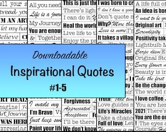 Inspirational Quote Sheet Bundle #1-5