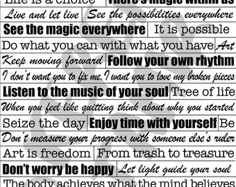 2 Inspirational Quote Sheets- Bundle #6-7