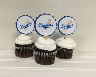 Dodgers Cupcake Toppers